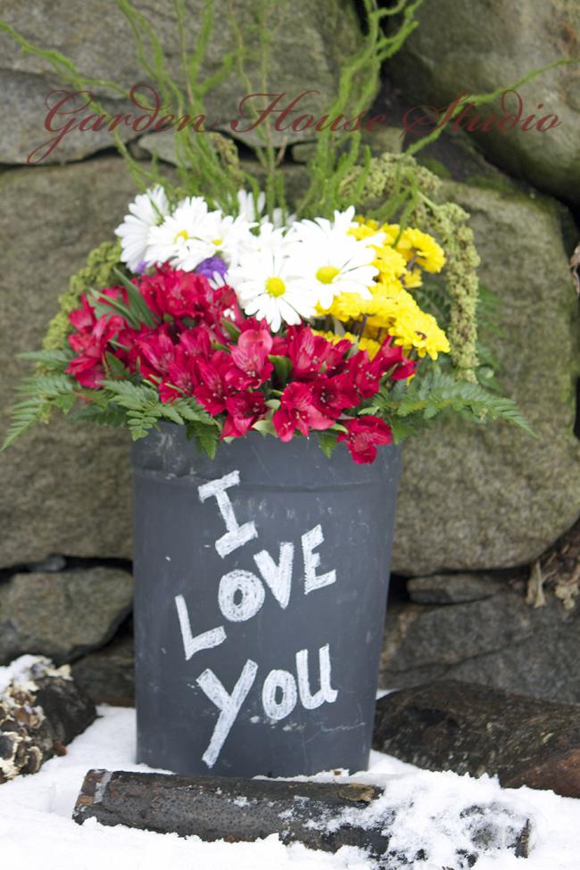 """""""Wildflower Valentine Bucket"""""""